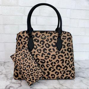Kate Spade Darcy Leopard Large Satchel & Wallet